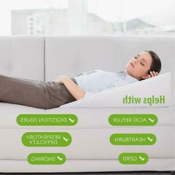 """12"""" Bed Wedge Support Pillow for Sleeping Reading Memory Foa"""