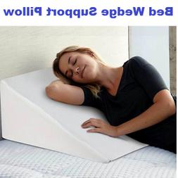 12INCH Memory Foam Help Acid Reflux Wedge Support Bed Pillow