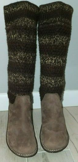UGG AUSTRALIA 1938 Cresthaven Leather Boots with Knit Shaft,