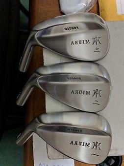 2 New Miura Golf raw 52 & 58 Gap Sand/Lob Forged wedge heads
