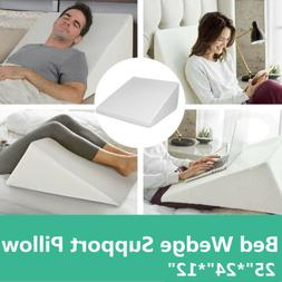 """25""""*24""""*12""""Foam Bed Wedge Pillow Elevation Cushion Washable"""