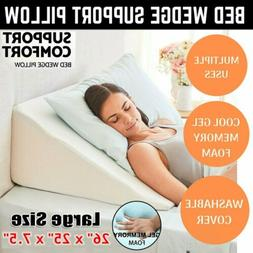 """26""""Large Bed Wedge Pillow Leg Elevated Back Support Cushion"""