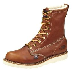 """Thorogood 8"""" American Heritage Wedge Sole Lace Up Work Boots"""