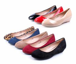 8 Color Office Lady Platforms Womens Casual Wedges Low Heels