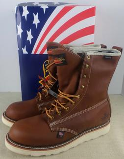 THOROGOOD 814-4009 MEN'S LEATHER WATERPROOF WEDGE BOOTS SIZE