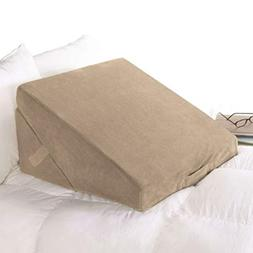 Brookstone 4-in-1 Bed Wedge Pillow with Body Conforming Memo