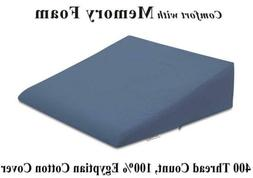 InteVision Extra Large Bed Wedge Pillow  with a 400 Thread C