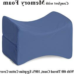 InteVision Knee Pillow with, 400 Thread Count, 100% Egyptian