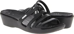 Ladies Crocs - Rhonda Sandal Wedge 6 M, Black