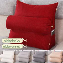 Adjustable Back Wedge Cushion Sofa Pillow Bed Office Chair R