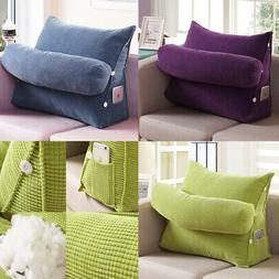 Adjustable Wedge Back Pillow Rest Sleep Neck Home Sofa Bed L