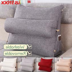Adjustable Wedge Back Pillow Sofa Bed Office Chair Cushion B