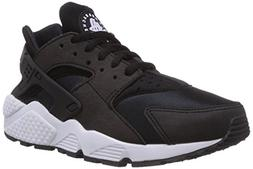 NIKE Women's Air Huarache Run Black/Black-White Ankle-High R