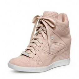 COACH Alexis FASHION WEDGE SNEAKER Suede Heel TENNIS SHOE SZ