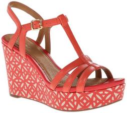 Clarks Women's Amelia Avery Tomato Red Ankle-High Leather Sa