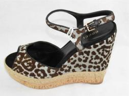 AUTH $670 Gucci Women Dyed Fur Wedge Shoes 39.5