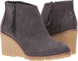 TOMS Women's Avery Wedge Forged Iron Microfiber 12 B US