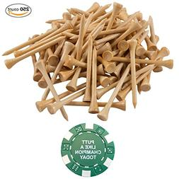Wedge Guys 250 Count Professional Bamboo Golf Tees 2-3/4 inc