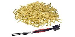 VersaGolf Bamboo Golf Tees 2-3/4 inch length with Cleaning B