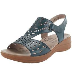 BareTraps Perforated Leather wedge Sandals Jordy pick size c