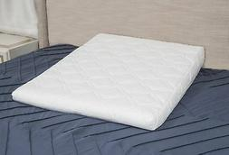 Bed Wedge Cushion Include Luxurious Quilted Pillowcase, Mach