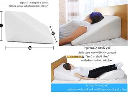 Cushy Form Bed Wedge Pillow - 1.5 Inch Memory Foam Top 25 x