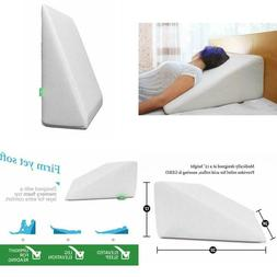 Bed Wedge Pillow 1.5 Inch Memory Foam Top, Cushy Form  Best