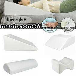Bed Wedge Pillow Knee Leg Elevation Neck Back Lumbar Support