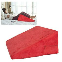 Bed Wedge Pillow Support Comfort Cushion Washable Case Back