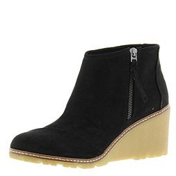 TOMS Women's Black Microfiber Avory Booties 10011042