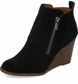 Lucky Brand Women's YESTERR Wedge Bootie SABLE
