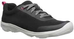 Crocs Women's Busy Day Stretch Mesh Lace-Up, Black, 8 M US