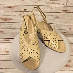 Catherines Good Soles Wedge Sandals Womens 12W Desert Khaki