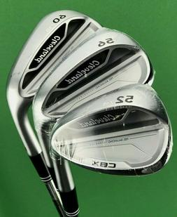 Cleveland CBX Wedge Set 52-11, 56-12, 60-10 Steel GW SW LW G