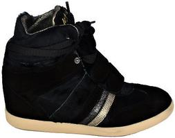 Chaussure Wedge Women Black Serafini Sneakers Woman Black