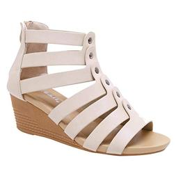 AgrinTol Clearance!Women's Bohemia High Heeled Sandals Zippe
