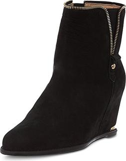 Stuart Weitzman Women's Como wedge Black Nubuc Boot 7.5 M