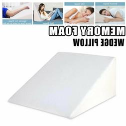Cool Gel Memory Foam Wedge Pillow Sleep Adjustable Bed Cushi