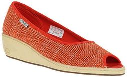 KEEN Women's Cortona Jute Wedge Shoe, Pumpkin, 10 M US