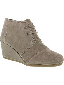 desert wedge boot taupe suede