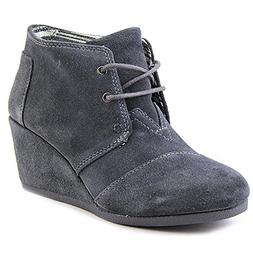 TOMS Desert Wedge Castlerock Grey Suede 10006990 Womens 7.5
