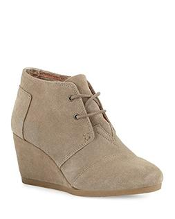 TOMS Desert Wedge Taupe Suede Boot 10006257 Womens 10