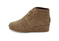Toms Girls Suede Desert Wedge, Cheetah, 2.5