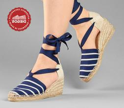 Diegos® Authentic Spanish Handmade Espadrilles | Blue strip
