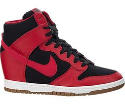Nike Womens Dunk Sky Hi Essential Black/University Red/Sail/