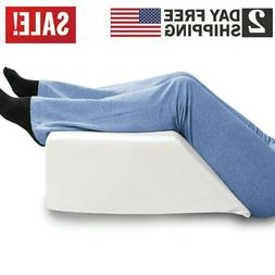 Support Plus Elevated Leg Wedge Pillow, Memory Foam w/ Remov