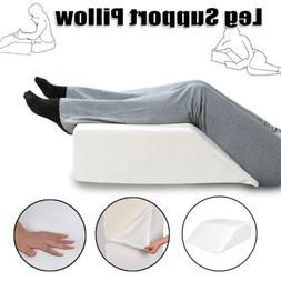 Elevating Leg Memory Foam Wedge Pillow Back Knee Bed Support
