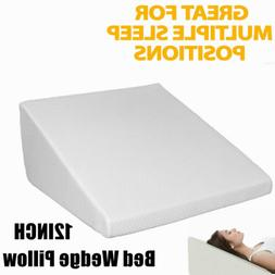 Ergonomically 12Inch Bed Wedge Pillow Foam Body Positioner E