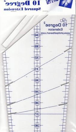 10 Degree Extension Squared Wedge Ruler: Turn a Circle Into