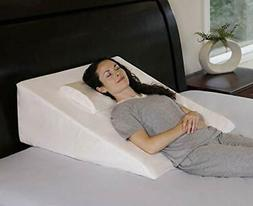 """InteVision Extra Large Bed Wedge Pillow 33"""" x 30.5"""" x 12"""" wi"""